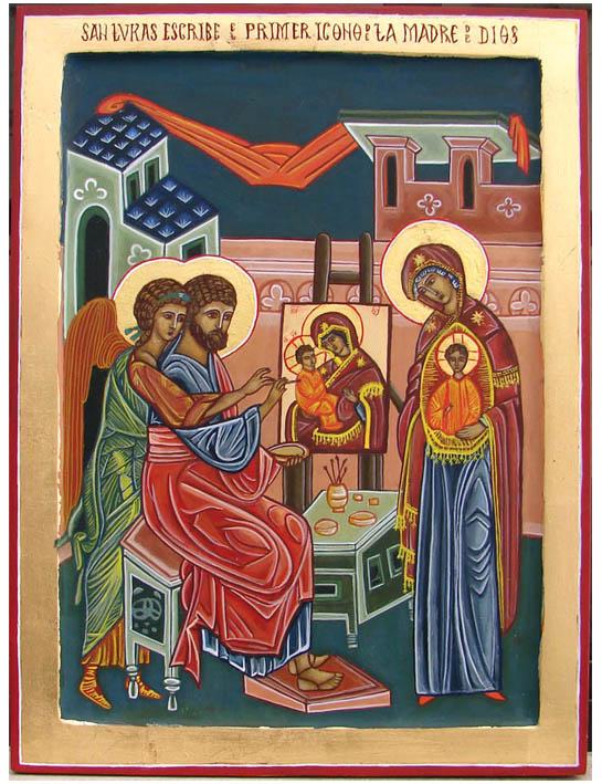 La tradición dice que el evangelista san Lucas fue el primer iconógrafo